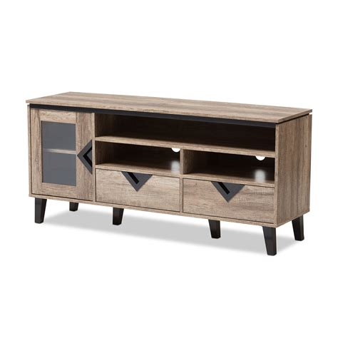light wood contemporary stands baxton studio cardiff modern and contemporary light brown