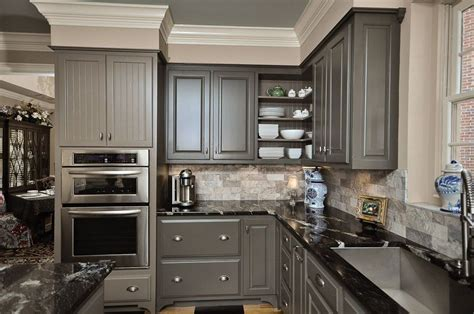 charcoal gray kitchen cabinets design ideas modern minimalist kitchen decor with charcoal gray painted
