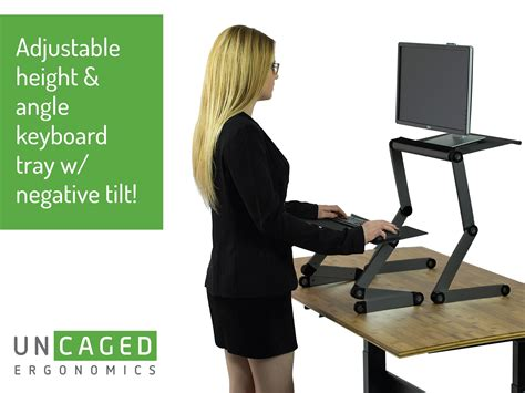 standing desk keyboard tray amazon com workez standing desk conversion kit