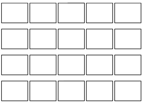 free professional commercial storyboard template 171 max