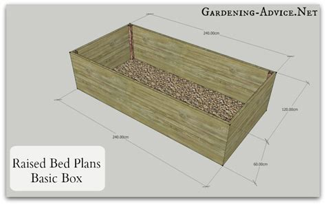 bed in a box plans easy to build raised bed garden plans