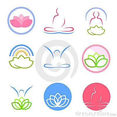 Yoga Imagenes Logos | vector de los logotipos de la yoga y del zen im 225 genes de