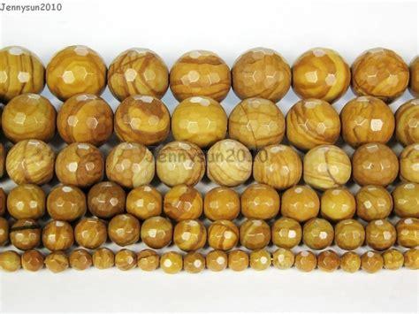 Wood Jasper 6mm wood grain jasper gemstone faceted bead 15 4mm 6mm 8mm 10mm 12mm jennysun2010