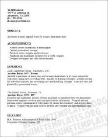 sle cover letter sle resume buyer