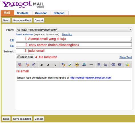 cara menulis dan mengirim email formal dengan baik dan cara kirim email dan kirim file lewat email yahoo retnet