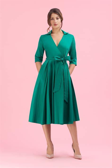 8 Pretty Wrap Dresses by The Pretty Dress Company Emerald Wrap Dress