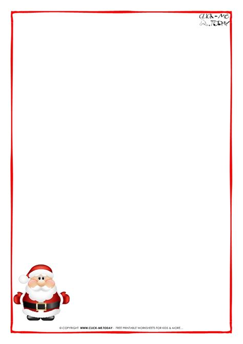 letter to santa claus paper blank template cute santa 6