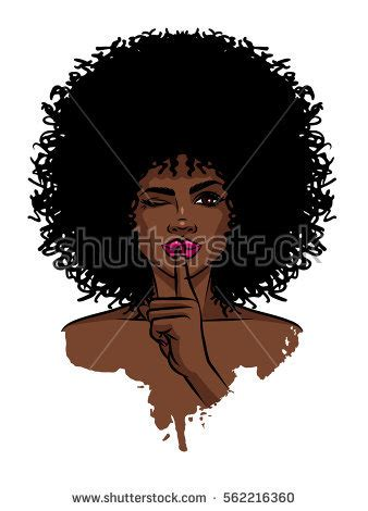 afro hairstyles vector young sexy dark skinned women afro stock vector 562216360