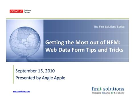 15 tips and tricks to get the most out of your samsung finit solutions getting the most out of hfm web data