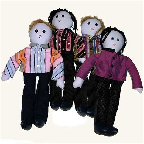 rag doll jersey boy bc efa auction item set of 4 rag dolls and poster