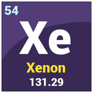 xe element periodic table xenon xe uses properties health effects periodic
