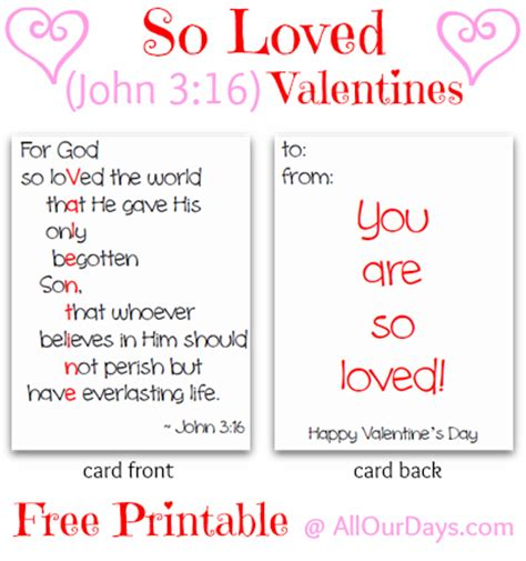printable postcards for sunday school so loved john 3 16 valentines free printable allourdays