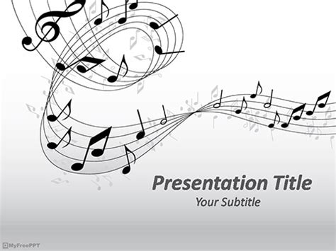 presentation templates for music free music powerpoint templates myfreeppt com