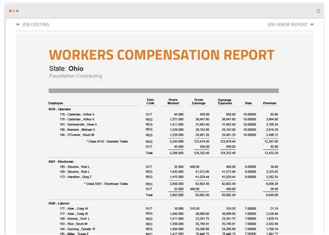 Construction Reports Compensation Spreadsheet Template