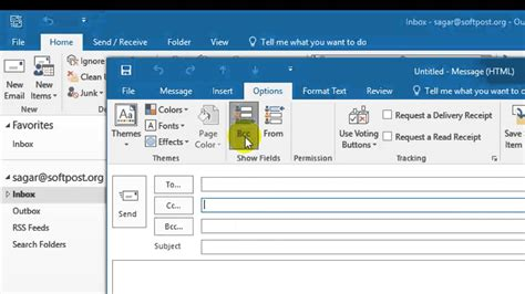 in bcc how to add bcc in outlook