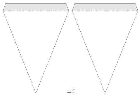 clipart triangle pennant banner template