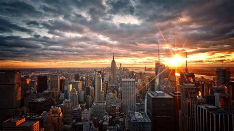 new wallpaper manhattan new york sunrise city skys wallpaper 17368