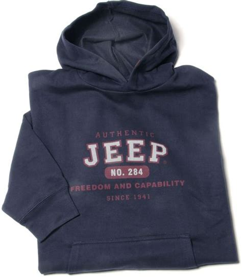 jeep clothing jpf548 authentic jeep sweatshirt in navy