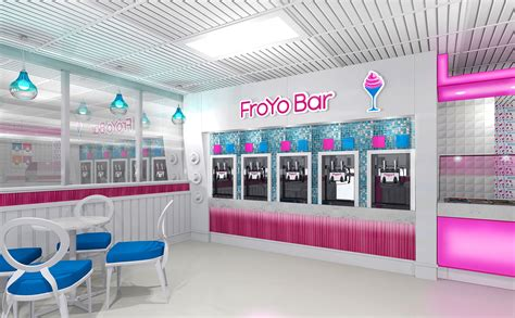 enchanting interior shop design and of yogurt shops