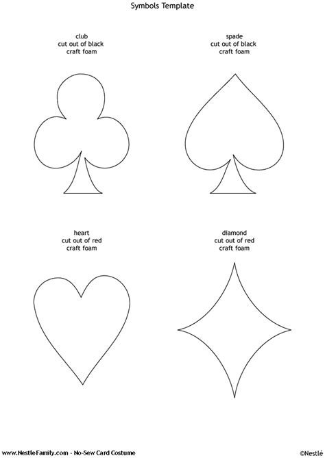 Deck Of Cards Template by Template To Make Sized Cards Planning