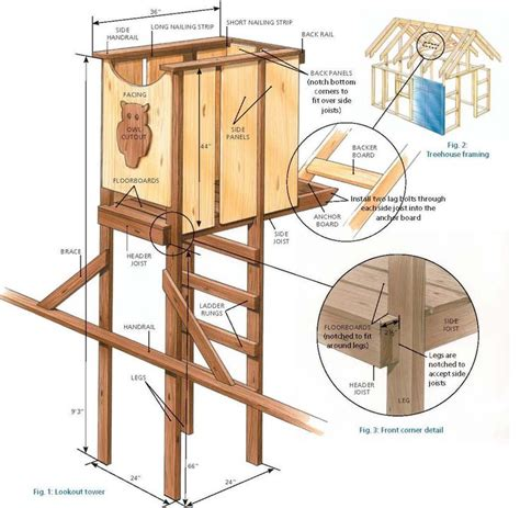observation tower plans 13 best images about fort plans on pinterest diy swing
