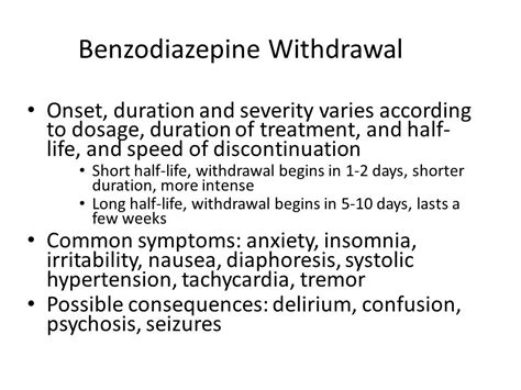 Exepiebce Of Detox On Benzodiazepines by T Melton Pharmd Bcpp Cgp Ppt