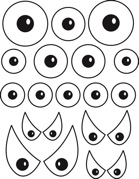free printable eyes nose mouth 6 best images of printable eyes nose mouth templates