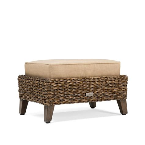 garden ottoman blue oak bahamas wicker outdoor ottoman with sunbrella