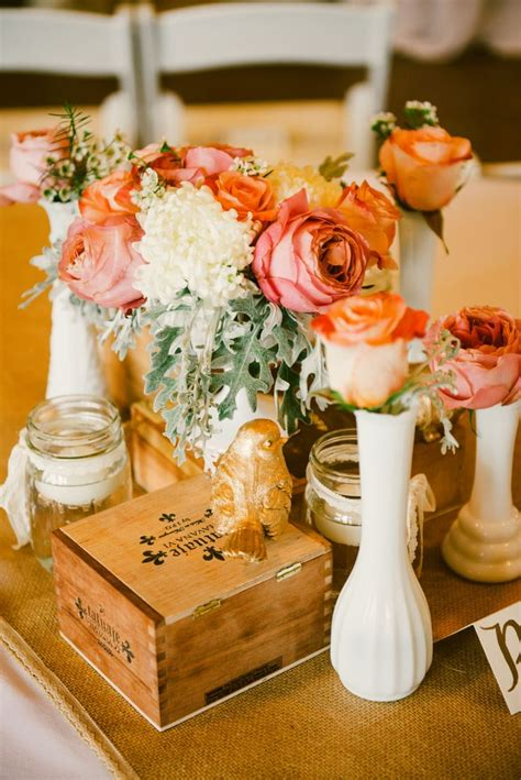 Candles In Vases For Weddings 8 Best Images About Cigar Box Centerpieces On Pinterest