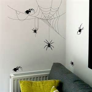 Halloween Wall Stickers Halloween Spider And Cobweb Set Wall Stickers