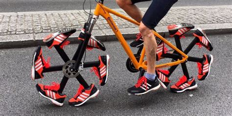 bike and shoes truly unique bicycle wheels made up of rotating