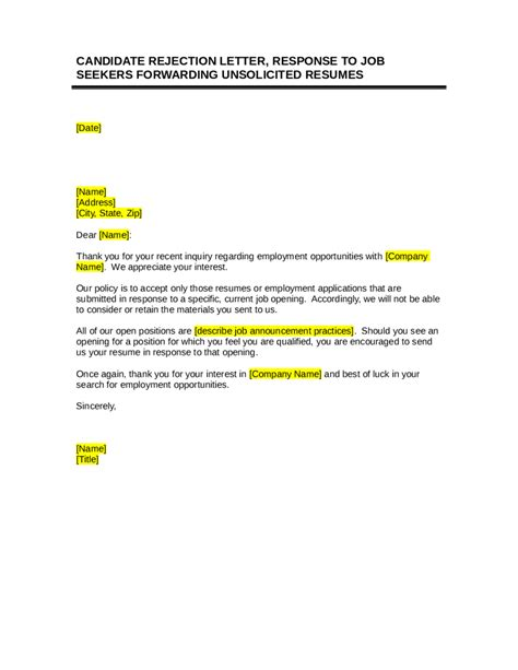 business letters college rejection letter clothing sales