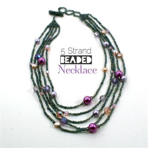 multi strand beaded necklace eternity jewelry