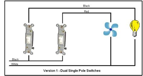 wiring bathroom fan light two switches single pole double switch wiring diagram single free