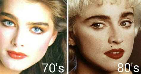 eyebrow fashions throughout the decades wednesday wink to each their arch eyebrows over the