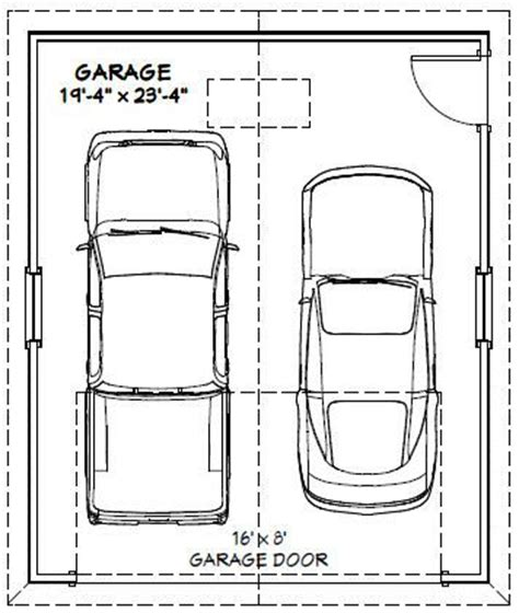2 car garage sq ft 20x24 2 car garage 480 sq ft pdf floorplan charlotte