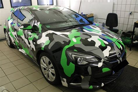 Folie Camouflage Orange by Opel Astra Opc In Camo Wrap