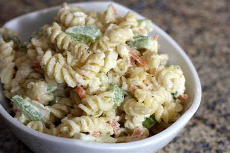 pasta salad with rotini easy creamy pasta salad recipe