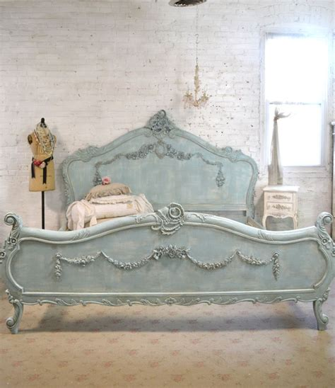 cottage shabby chic furniture best 25 painted beds ideas on chalk paint bed