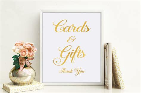 Wedding Gift Gold by Wedding Gift Sign Printable Wedding Card Sign Wedding