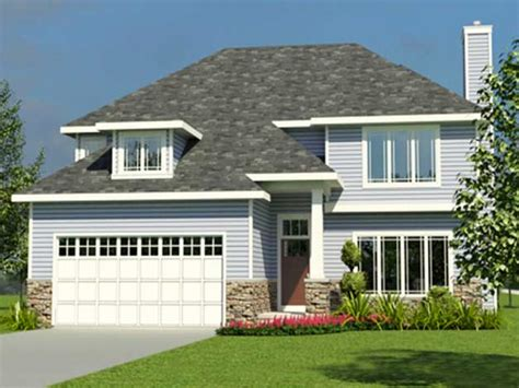 Small Two Story House Plans With Garage by Small Cottage Home Plan With Garage Small 2 Story Cottage