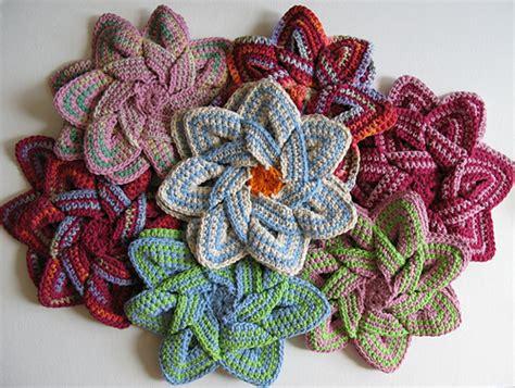 hotpand flower crocheted flower pads the sweatshop of