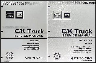 1996 Ck 1500 3500 Repair Shop Manual Reprint Pickup