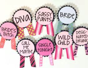 bachelorette party pins name tags bachelorette by