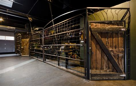 hand made cranknstein steel reclaimed wood bike shop gates by yendrabuilt custommade com