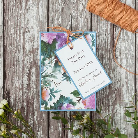 make your own save the date cards uk how to make eye catching floral wedding stationery
