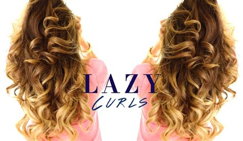 pretty hair styles with wand 5 minute lazy curls easy waves hairstyles youtube