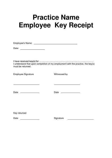 key receipt template best photos of signature receipt template petty