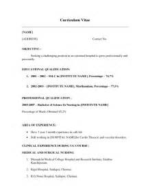 Resume Templates No Work Experience by Sle Resume For Fresh Graduate Without Work Experience