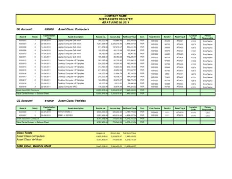 fixed asset continuity schedule template free excel inventory templates microsoft access templates